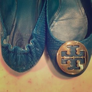 EUC Tory Burch reva flat Nordstrom Saks couture 9